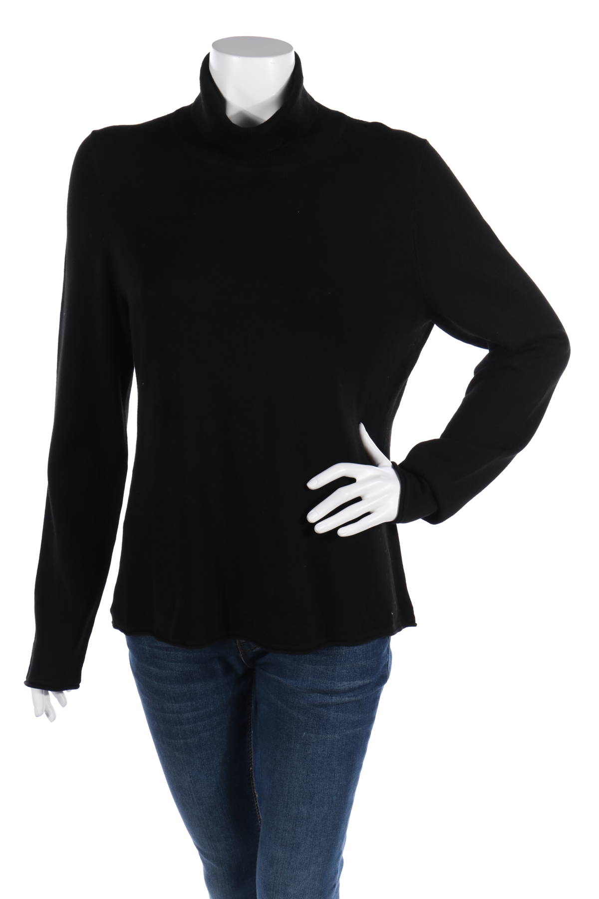 Пуловер с поло яка Comma,1