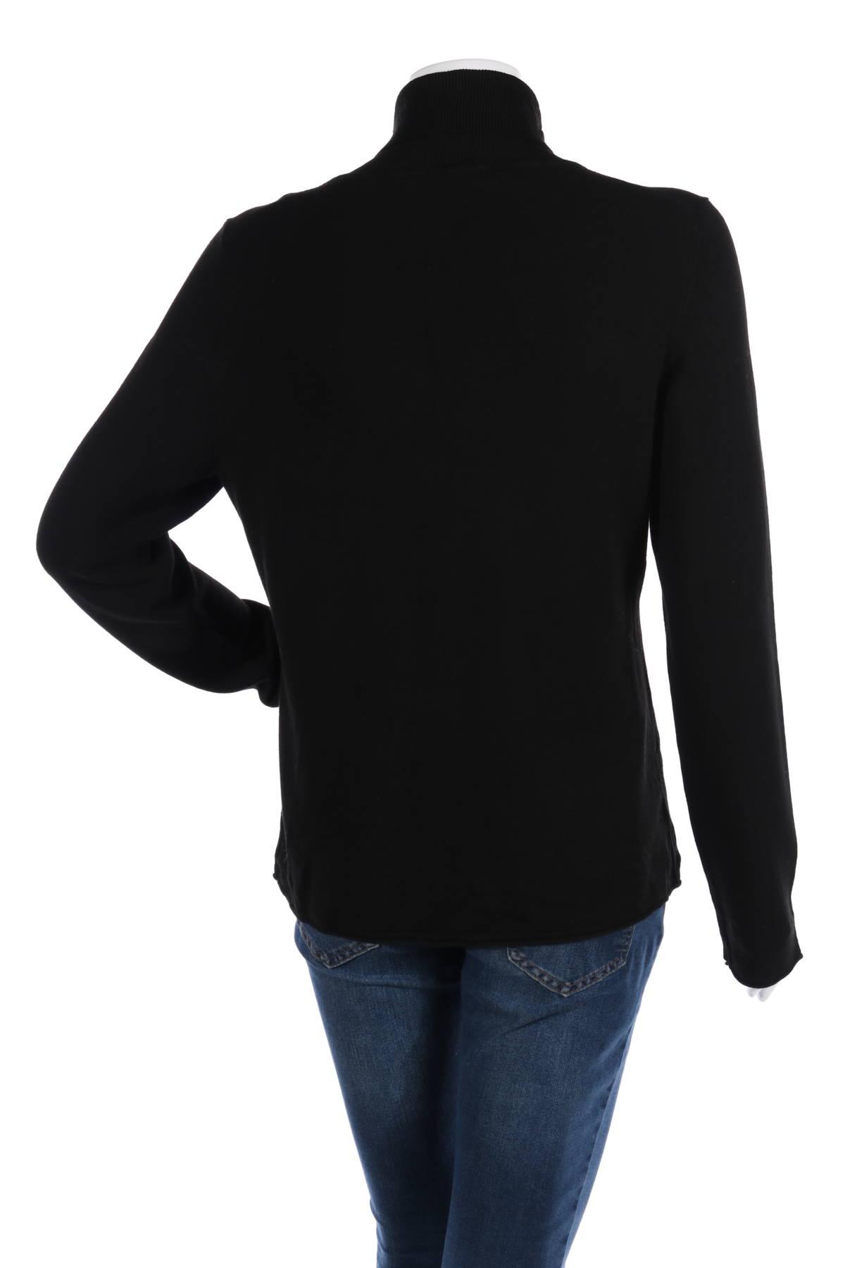 Пуловер с поло яка Comma,2